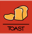 toast hand-drawn style vector image vector image