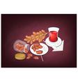 Traditional Black Hot Tea in Azerbaijan vector image vector image