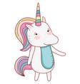 unicorn fantasy drawing vector image