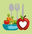 vegan diet healthy lifestyle vector image vector image
