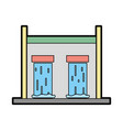 water tank to reserve and ecology care vector image vector image