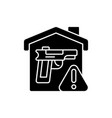 weapons storage black glyph icon vector image