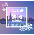 With merry Christmas vector image