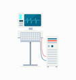 electrocardiogram equipment vector image