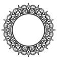 Mehndi Indian Henna tattoo round pattern vector image