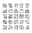 sewerage line icons sewage signs vector image