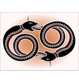 Decorative ethnic pattern in style of the legend vector image
