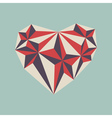 low poly heart symbol vector image