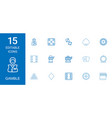 15 gamble icons vector image vector image