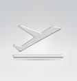 Aeroplane flight icon vector image vector image