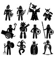 ancient warrior character for good alliance icon vector image