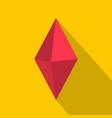 arrow pin icon flat style vector image