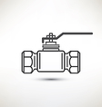 ball valve symbol vector image vector image