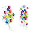 balloons objects isolated vector image vector image