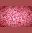 beautiful bright pink rosebuds lovely wide vector image