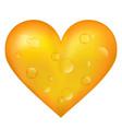 beer heart vector image vector image