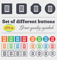 Bingo lottery icon sign Big set of colorful vector image
