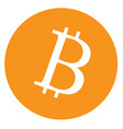 bitcoin icon on white background bitcoin sign vector image vector image