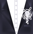 black suit and white pin vector image vector image