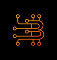 blockchain orange logo element or icon in vector image