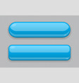 blue glass buttons 3d web icons on gray vector image vector image
