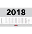 calendar 2018 horizontal template design vector image vector image