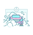 Car wash linear design vector image vector image