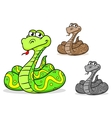 cartoon python snake vector image vector image