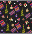 christmas holiday xmas seamless pattern with vector image vector image
