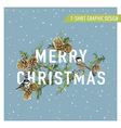 Christmas Winter Birds Graphic Design vector image vector image