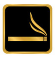 cigarette button on white vector image vector image