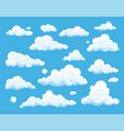 collection cloud icons in flat style vector image