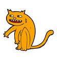 Comic cartoon happy cat