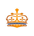 crown logo design template vector image