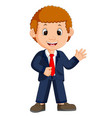 cute businessman cartoon vector image vector image