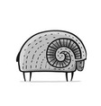 cute ram simple sketch for your design vector image