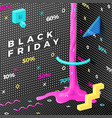 dark abstract black friday memphis style vector image vector image