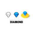 Diamond icon in different style vector image vector image