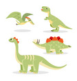 dinosaurs collection of funny icons on vector image vector image