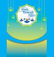 diwali festival offer banner design layout vector image vector image