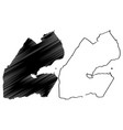 djibouti map vector image vector image