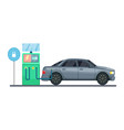 electrical car charging vector image vector image