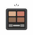 Face powder icon vector image