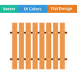 Flat design icon of Construction fence in ui vector image vector image