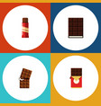 flat icon cacao set of wrapper dessert chocolate vector image vector image