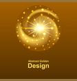 gold glowing logo design dynamic golden spiral vector image