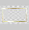 golden frame on transparent background vector image vector image