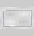 golden frame on transparent background with vector image