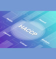 haccp concept words isometric 3d word text vector image vector image