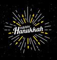 happy hanukkah font composition vintage style vector image